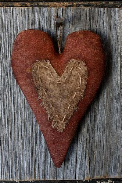 Primitive Valentine Heart Barn Wood Wall by rockriverstitches